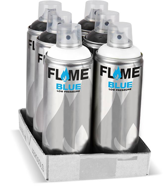 Flame BLUE 400ml Set black / white