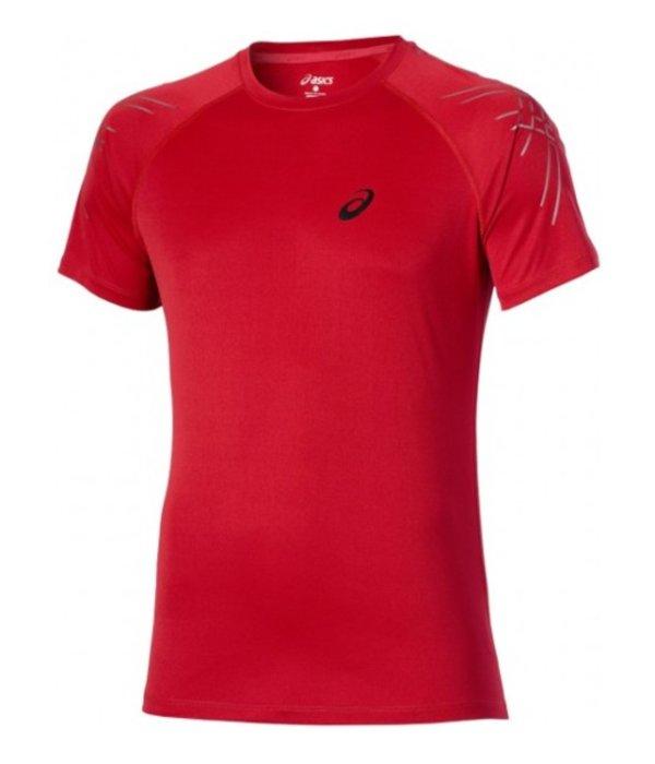 ASICS Asics Shirt Stripe Rood