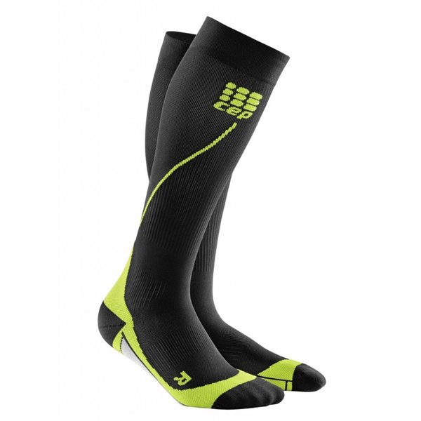 Run Socks 2.0 Heren Zwart/groen