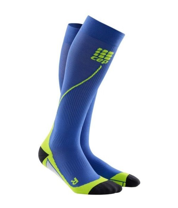 Cep Run Socks 2.0 Compressiekous Heren Blauw/groen