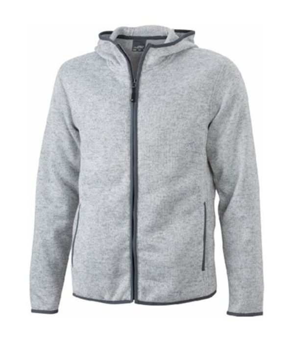James and Nicholson Hoody Knitted Fleece Dames
