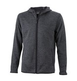James and Nicholson Hoody Knitted Fleece Heren