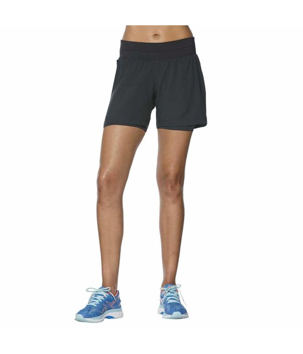 ASICS Short 2 in 1 5.5 Dames Zwart