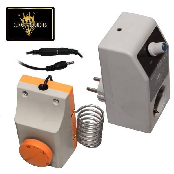 Control de ventilador y termostato