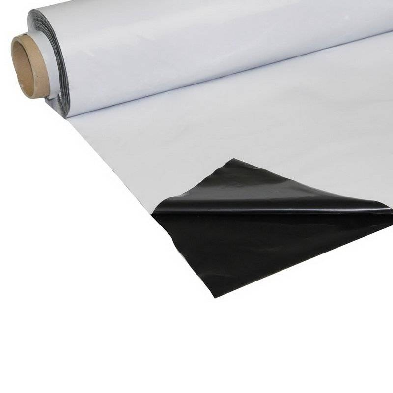 Plastico Reflectante Blanco y Negro - Por metro