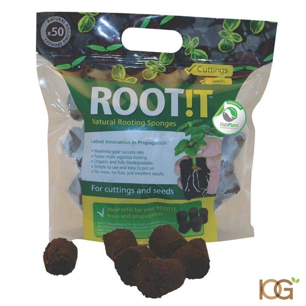 ROOT!T 50 Natural Rooting Sponges