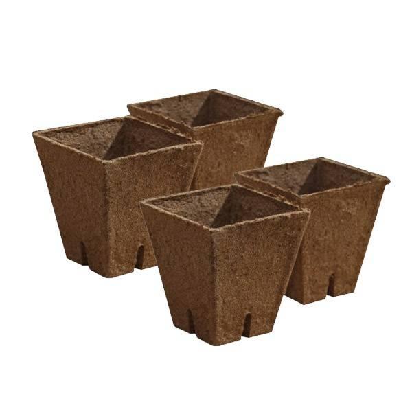 Jiffy Pot Square 8 x 8 x 8 cm (1200 pcs)