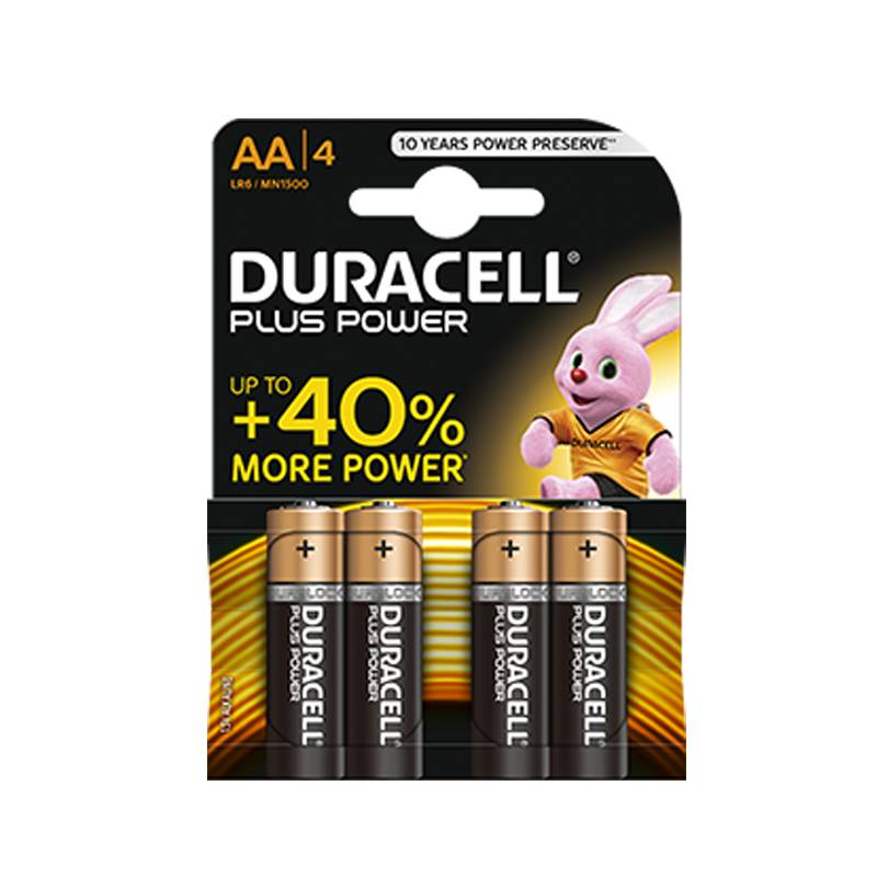 Duracell 4 AA Battery LR6 Plus Power