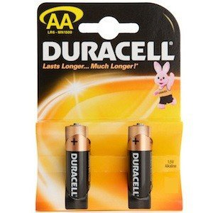 Duracell 2 AA Turbo Battery LR6