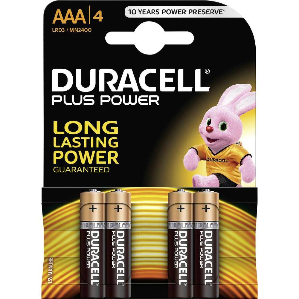 4 AAA LR03 Duracell Plus Power