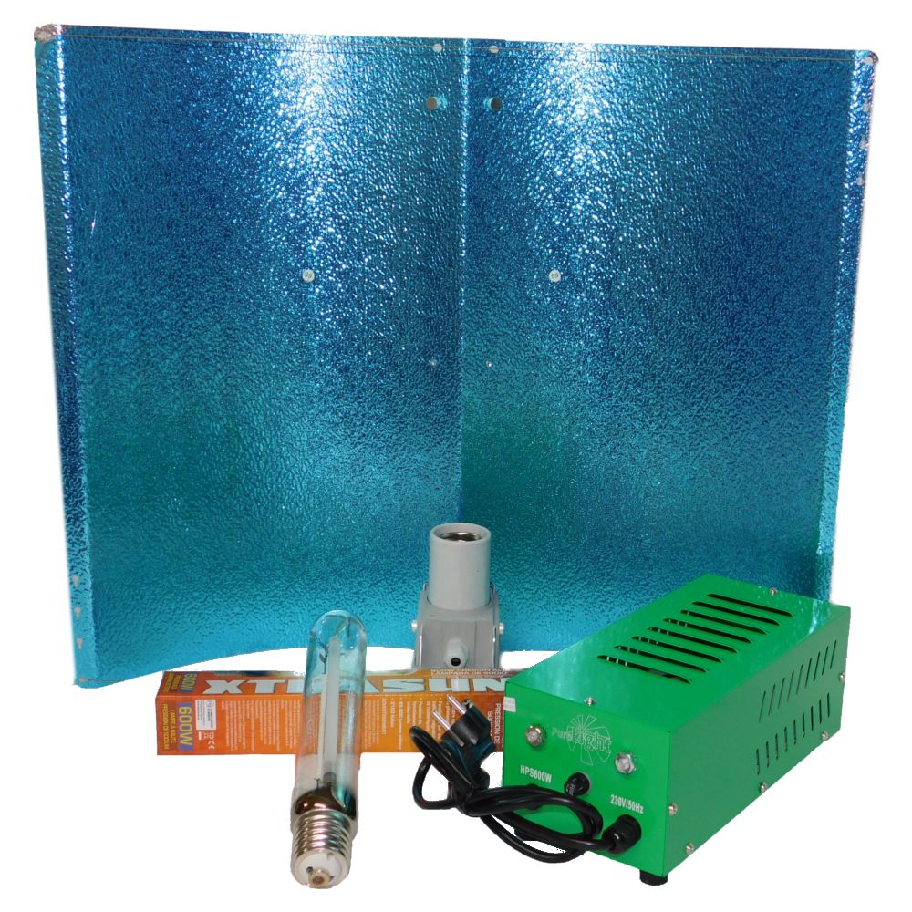Kit 600W Balastro box con Reflector Alas de Gaviota