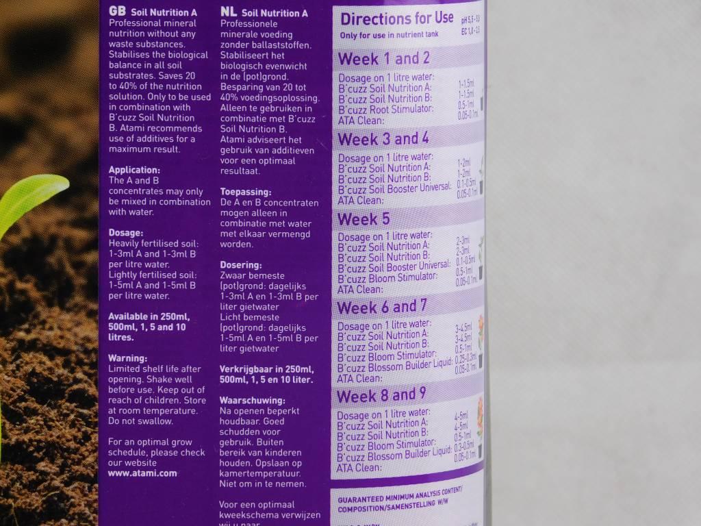 Atami B´cuzz 10 L Soil Nutrition A