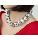 Kazuri Halsketten Halskette mit grossen Keramikkugeln