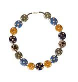 Kazuri Halsketten Kazuri Halskette mit Goldpunkten