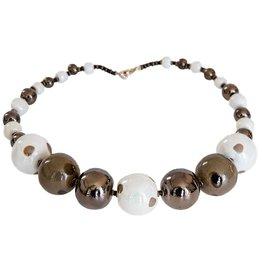 Kazuri Halsketten Patchwork Oyster