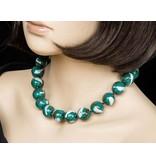Kazuri Halsketten Keramik Halskette Grün