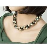 Kazuri Halsketten Afrikanische Halskette Eidechsen Farben