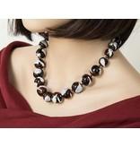 Kazuri Halsketten Hennafarbene Keramik Halskette