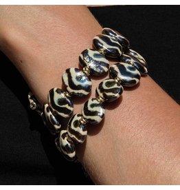 Kazuri Armbänder Shale Gold Zebra