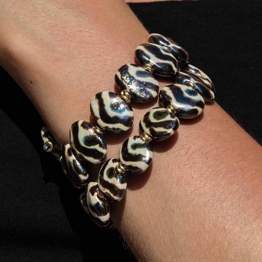 Kazuri Armbänder Kazuri Armband - Zebrastreifen