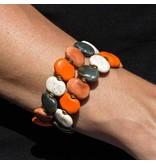 Kazuri Armbänder Armschmuck Orange