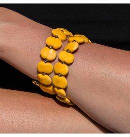 Kazuri Armbänder Shale Light Yellow