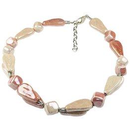 Kazuri Halsketten Thika Summer Pink