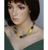 Kazuri Halsketten Gelbe Halskette