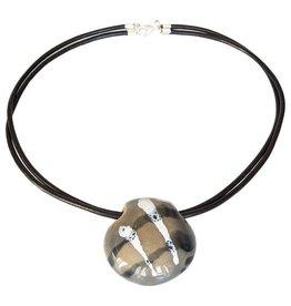 Kazuri Halsketten Benin Liquorice