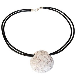Kazuri Halsketten Benin Nougat