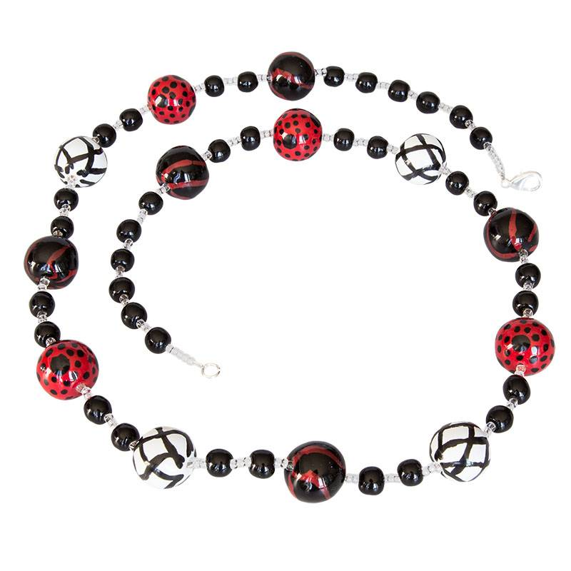 Kazuri Halsketten Keramikkette Lang