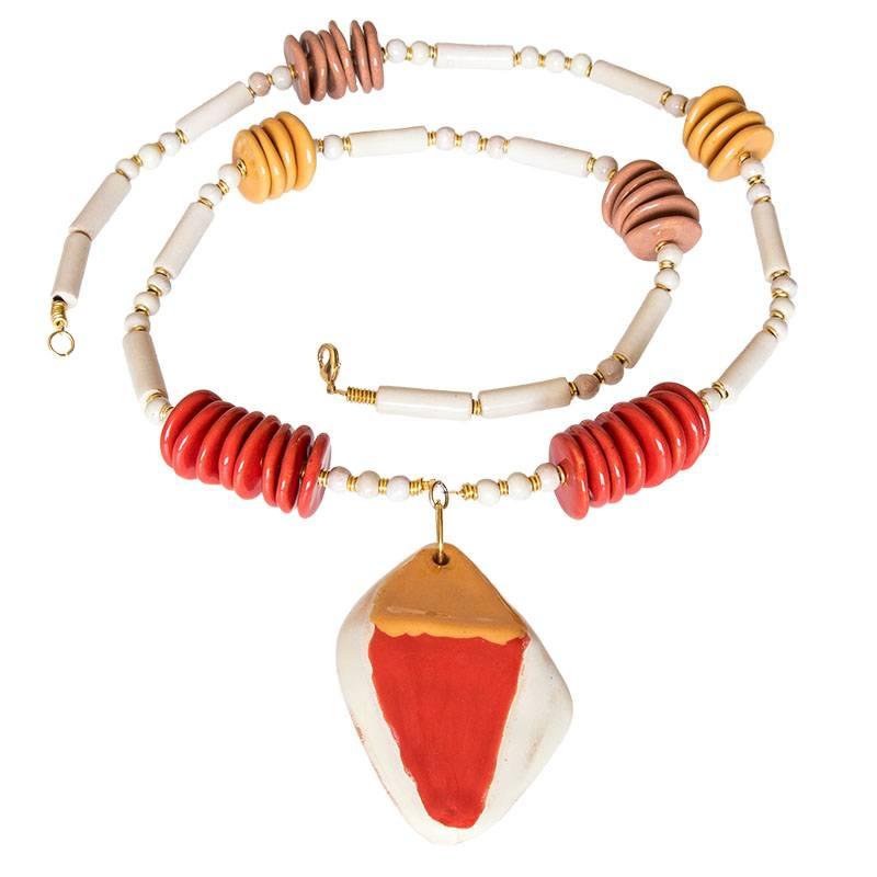 Kazuri Halsketten Handgemachter Schmuck