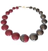 Kazuri Halsketten Keramik Schmuck Bordeaux