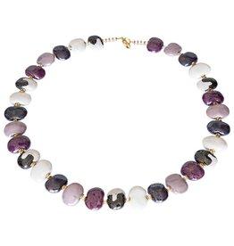 Kazuri Halsketten Shale Purple Sensation