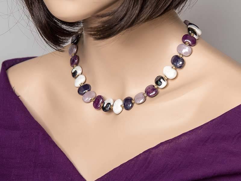 Kazuri Halsketten Individueller Schmuck