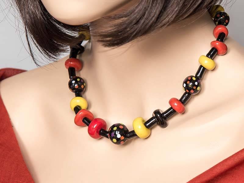Kazuri Halsketten Kette Bunt