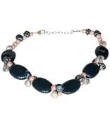 Kazuri Halsketten Elegante Kette Blau