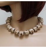 Kazuri Halsketten Handbemalter Keramik Schmuck