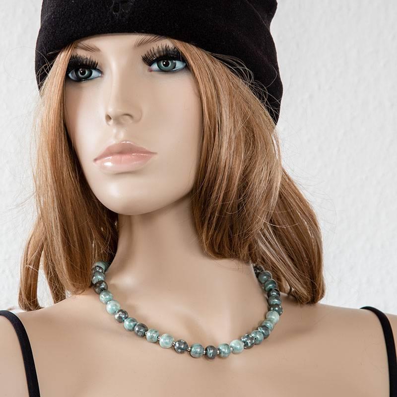 Kazuri Halsketten Individueller Schmuck handbemalt