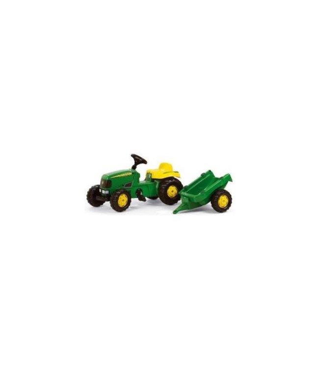 Rolly Toys RollyKid John Deere Tractor met Aanhanger