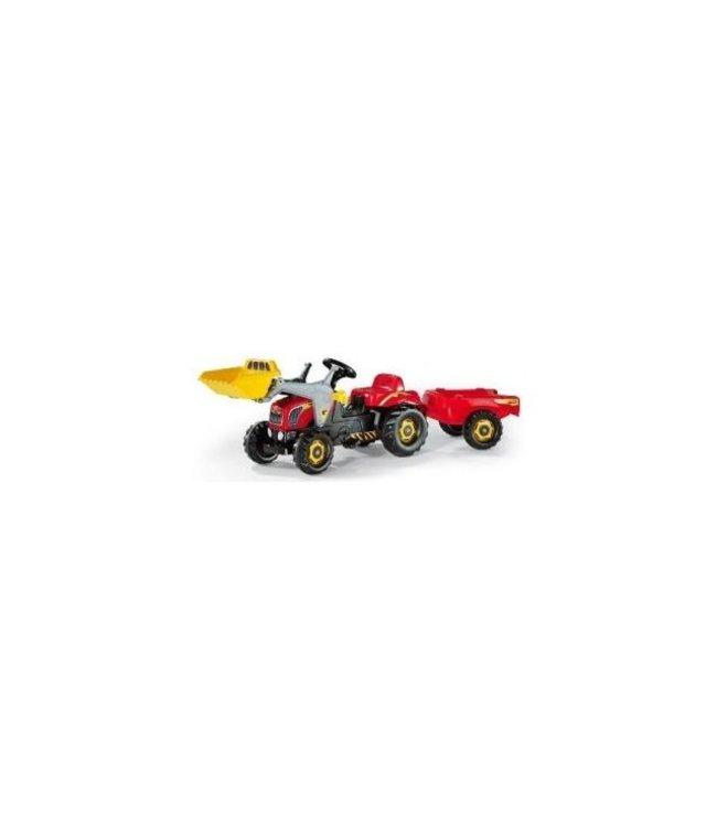 Rolly Toys RollyKid-X Tractor met Lader en Aanhanger Rood