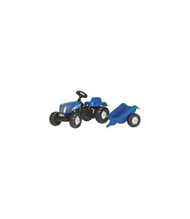 NH T 7550 RollyKid Tractor met Aanhanger