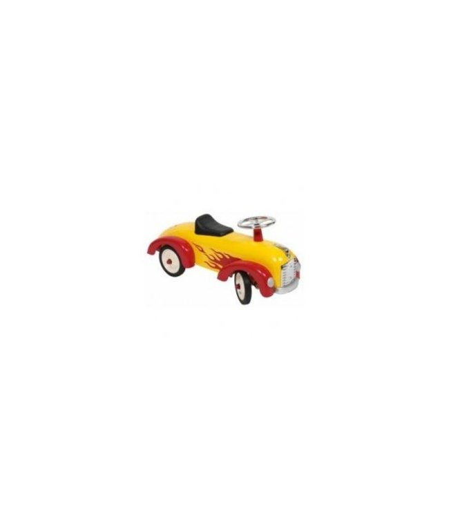 Simply for Kids Spitfire Yellow Metalen Loopauto