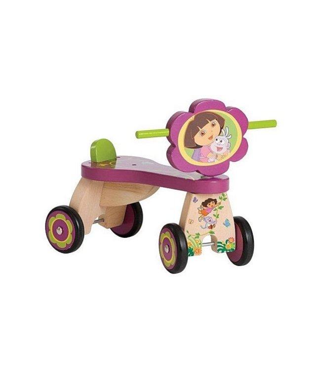 Dora Dora Stabiele Houten Loopfiets Jungle met 4 Wielen 1+
