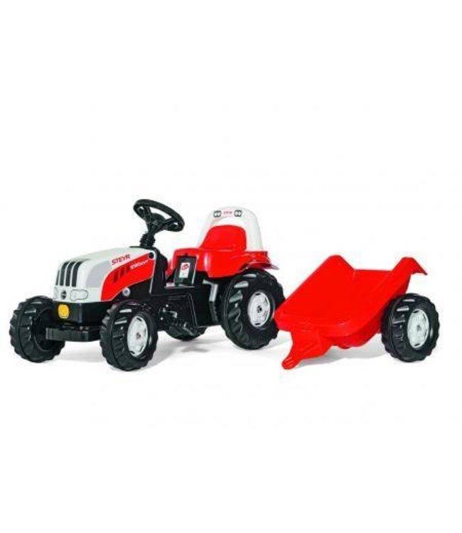 Rolly Toys RollyKid Steyr 6190 CVT Tractor met Aanhanger