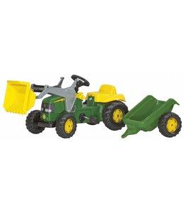 Rolly Toys RollyKid John Deere Tractor met Lader en Aanhanger