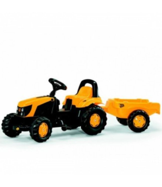 Rolly Toys Rolly Toys RollyKid JCB Tractor met Lader en Aanhanger
