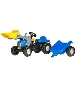 Rolly Toys RollyKid NH TVT 190 Tractor met Lader en Aanhanger