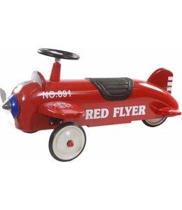 Retro Roller Loopvliegtuig Liane Rood