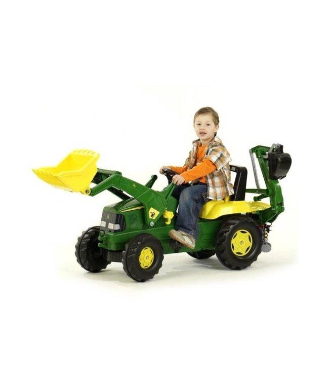 John Deere Traptractor met Lader en Graafarm - Rolly Toys RollyJunior